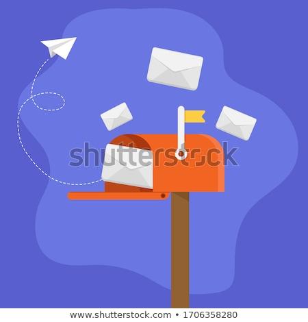 mail · post · vettore · sfondo · bianco · clipart - foto d'archivio © zzve