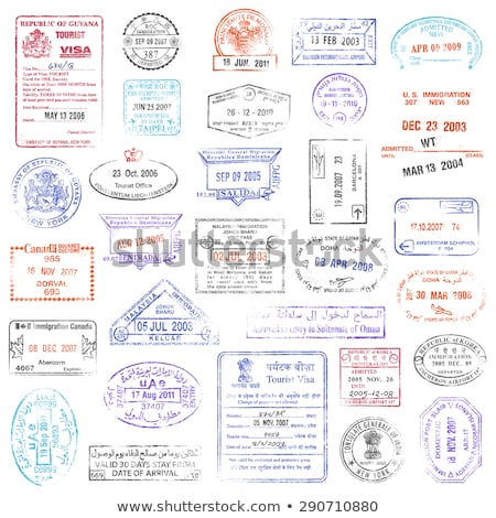 Immigration timbres image blanche vecteur Photo stock © cteconsulting