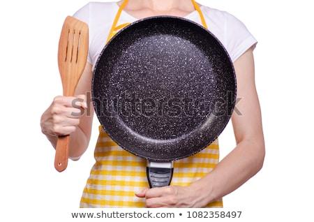 Chef padella spatola femminile bianco Foto d'archivio © wavebreak_media
