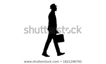 Carrying briefcase Stock photo © pressmaster