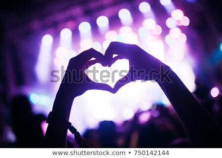 музыкальный вентилятор стороны черный перчатка Сток-фото © timbrk