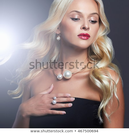 sexy girl jewelry and hairstyle fashion portrait of beautiful stock photo © victoria_andreas