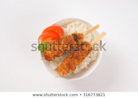 kínai · étel · tál · zöld · tyúk · vacsora - stock fotó © doupix