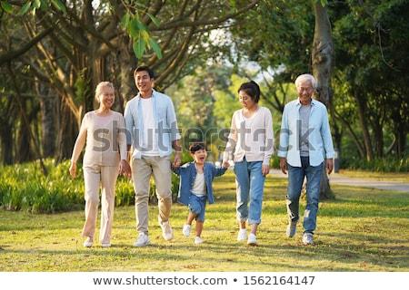 familia · relajante · parque - foto stock © get4net