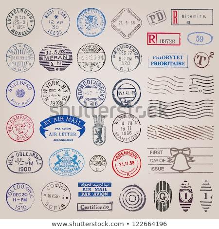 Oude postzegels stempel album kantoor Stockfoto © janaka
