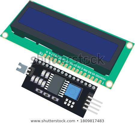 LCD Character Module Display Stock photo © cherezoff