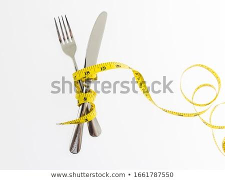 巻き尺 フォーク 光 フィットネス 脂肪 テープ ストックフォト © pxhidalgo