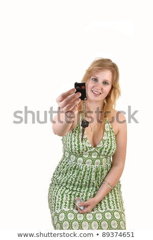 Car Key And Eighteen Showing Gift Stock photo © stuartmiles