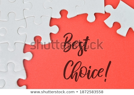 Best Choice Concept on Red Puzzle. Stock photo © tashatuvango