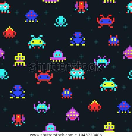 Kolorowy starych gra komputerowa czarny ekranu Zdjęcia stock © mayboro