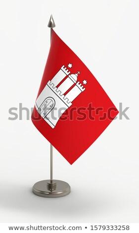 Miniatuur vlag hamburg geïsoleerd vergadering Stockfoto © bosphorus