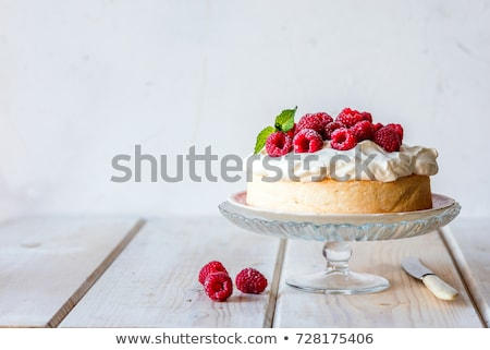whipped cream dessert cake slice Stock photo © keko64