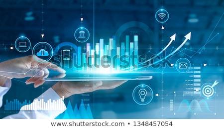 Stock fotó: Profi · fejlesztés · digitális · kék · szín · sötét