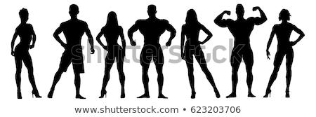 Test építész férfi szexi izmos testépítő Stock fotó © curaphotography