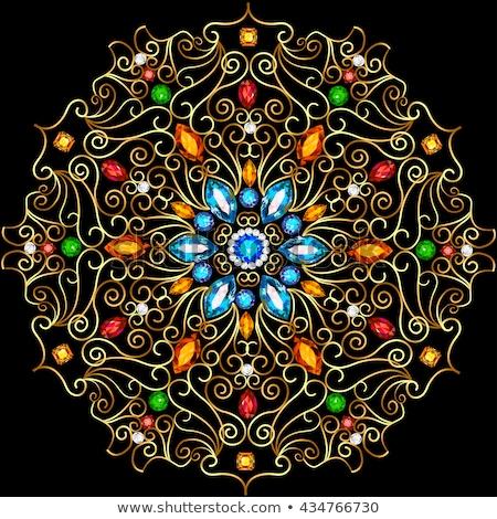 Ornament kostbaar stenen goud illustratie metaal Stockfoto © yurkina