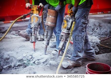 asfalt · weg · gat · schade · beschadigd - stockfoto © smuki