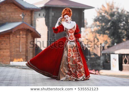 Lady ghost in red dress Stock photo © Nejron