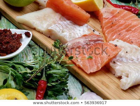 White Fish Ready for Cooking Stock photo © bigandt