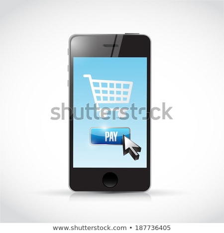 Currencies And Mobile Phone Illustration Design Over White Photo stock © alexmillos