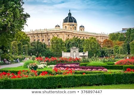 Belo parque Viena Áustria pessoas visitar Foto stock © bloodua