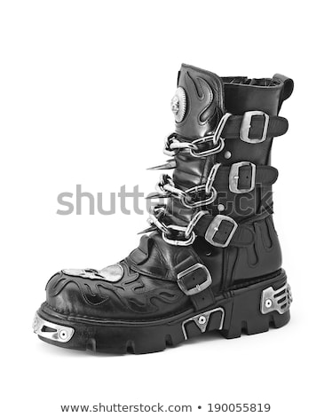 leather boot with metal spikes Stock photo © FOKA