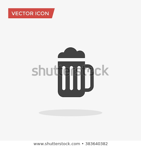 flat beer icons vector background stock photo © kali