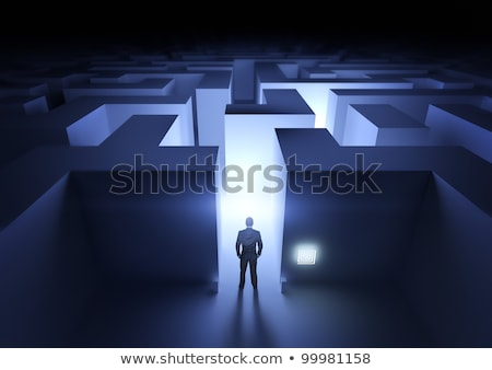 Expert Blauw puzzel witte informatie ondersteuning Stockfoto © tashatuvango