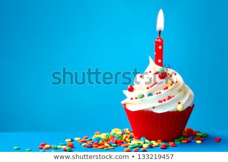 primo · compleanno · decorato · cioccolato · verde - foto d'archivio © ruthblack