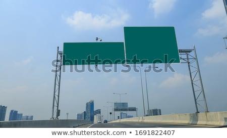 подготовки · развития · шоссе · указатель · дороги · фон - Сток-фото © tashatuvango
