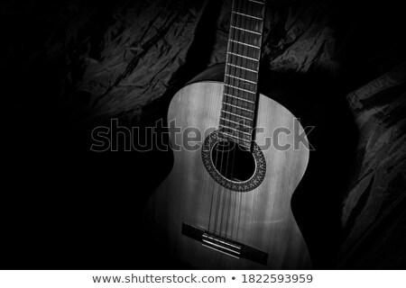 guitar black Stock photo © mayboro1964
