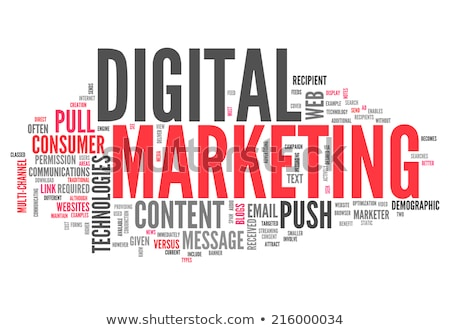 Stock photo: word cloud - web marketing