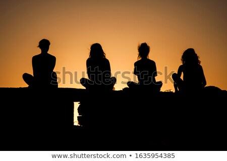 Four girls Stock photo © polygraphus