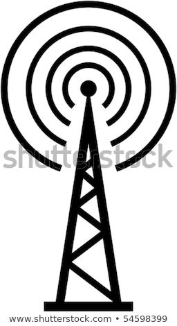ラジオ 翻訳 ベクトル 実例 孤立した 白 ストックフォト © Mr_Vector