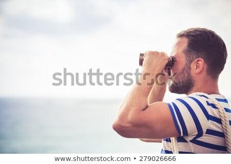 見える 船 輸送 冒険 海洋 制御 ストックフォト © HennieV