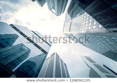 Cingapura arranha-céus para cima céu noite negócio Foto stock © joyr