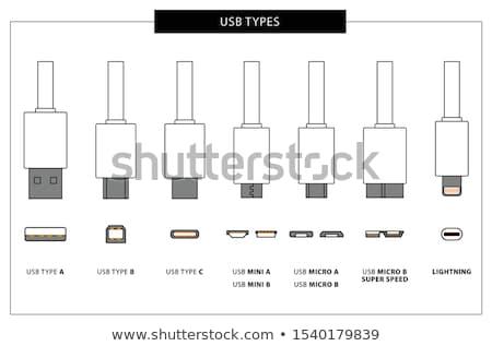 type b usb plug stock photo © nito