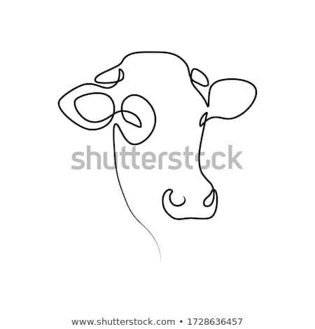 single cow in front of farm stock photo © morrbyte