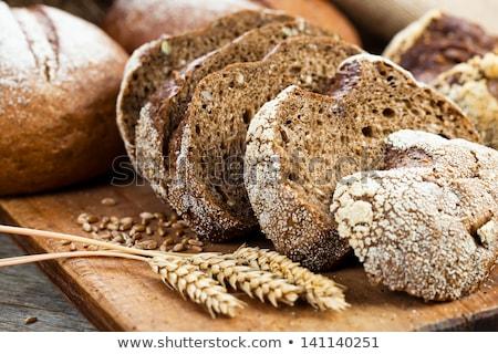 рожь хлеб черный плетеный корзины кухне Сток-фото © OleksandrO