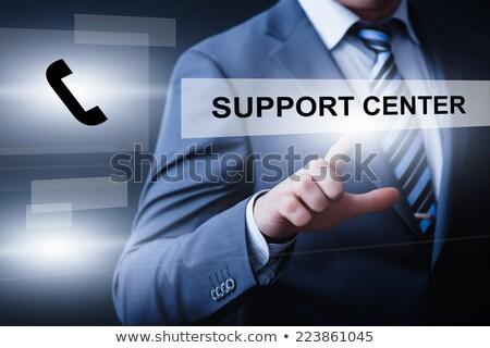 web · hosting · zakenman · teken · illustratie · grafisch · ontwerp - stockfoto © andreypopov