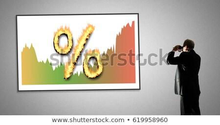 Binoculars and Mortgage Rates Stock photo © devon