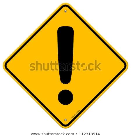 Avvisare segno giallo piazza pulsante icona Foto d'archivio © rizwanali3d