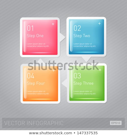 Vector 3d square plastic glossy element for infographic Stock photo © LittleCuckoo