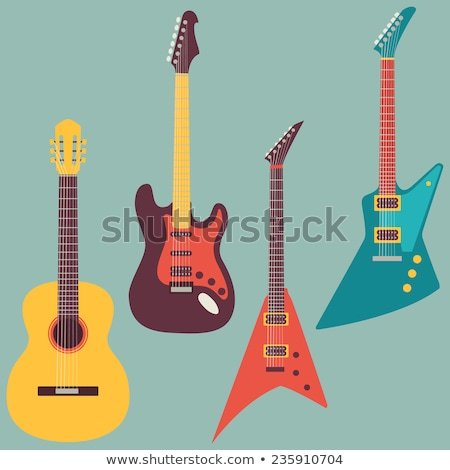 vintage electric guitar stock photo © ivicans