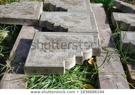 Hoek patroon grijs baksteen Stockfoto © ozgur