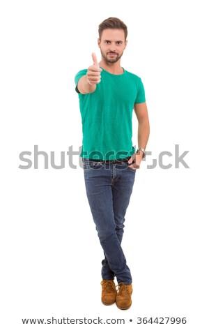 Young casual man signaling Ok Stock photo © hsfelix