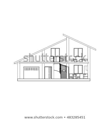 Terv legjobb építészet érdekes építészeti egyedi Stock fotó © ylivdesign