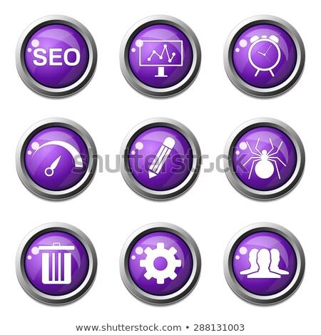 SEO Internet Sign Violet Vector Button Icon Design Set 8 Stock photo © rizwanali3d