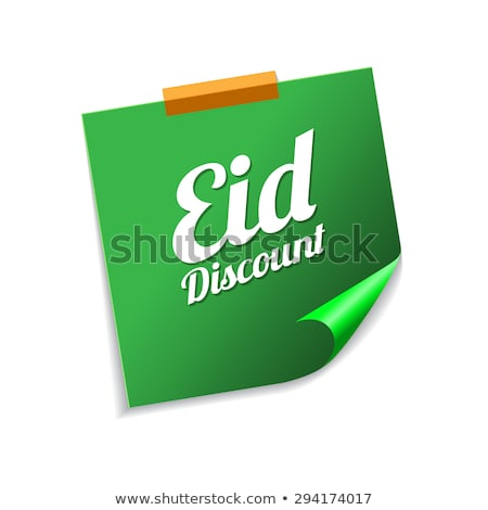 descuento · verde · notas · adhesivas · vector · icono - foto stock © rizwanali3d
