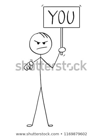 бизнесмен обвинение бизнеса рук человека подчеркнуть Сток-фото © leeavison