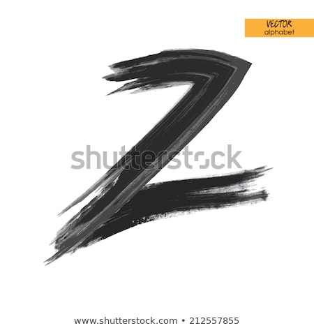 stylized black letter z vector symbol Stock photo © blaskorizov